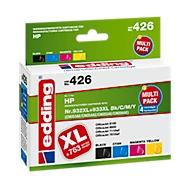 Sparpack Tinte Edding Tintenpatrone, kompatibel zu HP 932XL/933XL (CN053/54/55/56), CMYK
