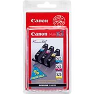 Sparpaket 3 Stück Canon Tintenpatronen CLI-526 cyan/magenta/gelb