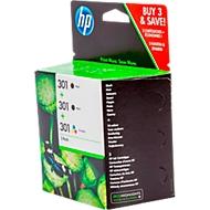 Sparpaket 3 x HP Tintenpatronen Nr. 301 schwarz, color (E5Y87EE), original