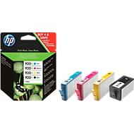 Sparpaket 4 Stück HP Druckpatrone Nr. 920XL cyan, magenta, gelb, schwarz (C2N92AE)