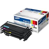 Sparpaket 4 x SAMSUNG CLT-P4072C/ELS Tonerkassetten cyan/magenta/gelb/schwarz