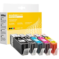 Sparset 4 Schäfer Shop Tintenpatronen, PG-570/CLI-571 XL (Multipack)
