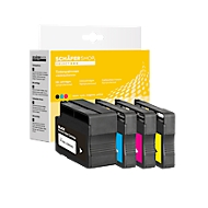 Sparset 4 St. Schäfer Shop Tintenpatronen, 1 x schwarz 932Xl, 3 x 933XL (C/M/Y )