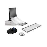 Sparset BakkerElkhuizen Home Working Kit 3, ergonomisch, bestehend aus Dokumentenhalter Q-doc 515, Tastatur UltraBoard 960, Vertikalmaus Grip Mouse Wireless & Mauspad The Egg