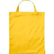 Sparset Baumwolltasche BASIC AI, 100 Stck., inkl. Werbedruck 1-farbig + Grundkosten, gelb