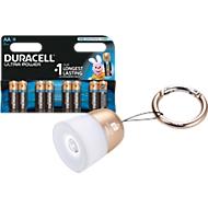 Sparset DURACELL® Batterie ULTRA, 1,5 V, Mignon AA, 8 Stück + LED-Taschenleuchte