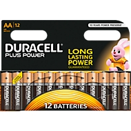 Sparset DURACELL® Batterien Plus, Mignon AA, 1,5 V, 12 Stück