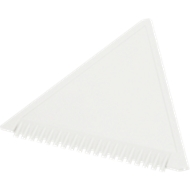 Sparset Eiskratzer Dreieck, 1-farbiger Werbeanbringung u. Grundkosten, 200 St., weiß