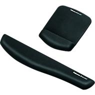 Sparset Fellowes PlushTouch, Tastatur-Handgelenkauflage und Mauspad-Handgelenkauflage, schwarz