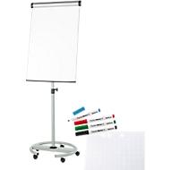 Sparset Maul Flipchart Solid, fahrbar, höhenverstellbar + gratis 1 Block und 4 Stifte