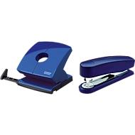 Sparset Novus Hefter B2 + Locher B 230, Heftleistung 25 Blatt, Lochleistung 30 Blatt, blau