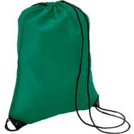Sparset Schuhrucksack Basic, Polyester, einfarbiger Druck inkl. Grundkosten, 100 St., grün