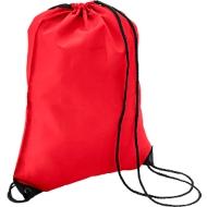Sparset Schuhrucksack Basic, Polyester, einfarbiger Druck inkl. Grundkosten, 100 St., rot