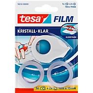 Sparset tesafilm® Mini Abroller + 2 Rollen tesafilm®, für Rollen bis L 10 m x B 19 mm, farbsortiert