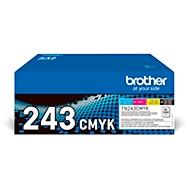 Sparset Toner Brother TN-243CMYK, 4 x 1000 Seiten, schwarz/cyan/magenta/gelb