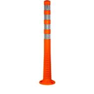 Sperrpfosten Flexipfosten, selbstaufrichtend, H 1000 mm, orange-silber