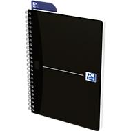 Spiralbuch Oxford Smart Black A5,  Softcover, kariert, 90 Blatt, SCRIBZEE®-kompatibel, 5 Stk.