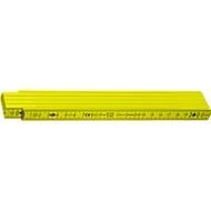 Spitzen-Zollstock aus Holz, 2 m, gelb