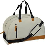 Sporttasche FUN, Kunststoff, Reißverschlussfächer, gepolstert, Werbedruck 120 x 180 mm, grau