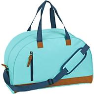 Sporttasche FUN, Kunststoff, Reißverschlussfächer, gepolstert, Werbedruck 120 x 180 mm, hellblau