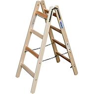 Sprossen-Doppelleiter, Holz, 2 x 4 Sprossen