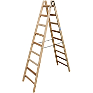 Sprossen-Doppelleiter, Holz, 2 x 9 Sprossen
