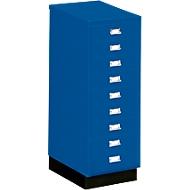 SSI-ladekast DIN A3, blauw, 9 laden, 940 mm hoog