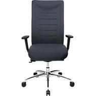 SSI PROLINE XXL bureaustoel, met armleuningen, voor personen met een lichaamsgewicht tot 150 kg, antraciet