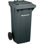 SSI SCHÄFER conteneur à déchets PRO 120 WAVE , 120 litres, avec roulettes, anthracite