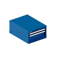 SSI SCHÄFER ladekast 18-27, 2 laden (H 50/100mm), tot 75 kg, B 411 x D 572 x H 250 mm, gentiaanblauw/gentiaanblauw