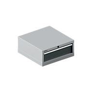 SSI SCHÄFER ladekast 27-27, 1 lade, tot 75 kg, B 564 x D 572 x H 250 mm, antracietgrijs/blank aluminium