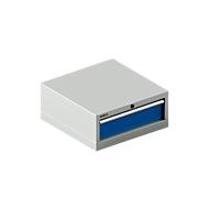 SSI SCHÄFER Schubladenschrank 27-27, 1 Schub, bis 75 kg, B 564 x T 572 x H 250 mm, enzianblau/lichtgrau