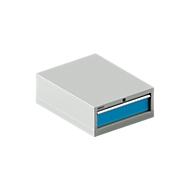 SSI SCHÄFER Schubladenschrank 27-36, 1 Schub, bis 75 kg, B 564 x T 725 x H 250 mm, lichtblau/lichtgrau