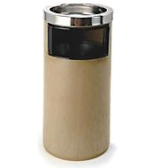 Staande asbak met binnenemmer, 20 l, rond, H 580 x Ø 270 mm, rvs & PP, beige