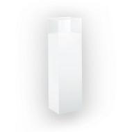 Staande vitrinekast, zuil, B 250 x D 180 x H 850 mm, wit