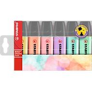 Stabilo® Boss Original Pastel Textmarker, Strichbreite 2 mm/5 mm, Pastelfarben, 6er Etui