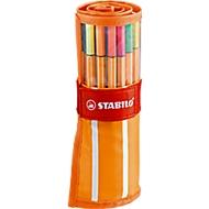 STABILO® Fineliner Point 88, im Rollerset, 30 Stück, farbsortiert