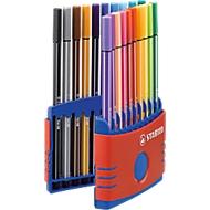 STABILO® viltstift Pen 68 ColorParade in doos van kunststof, 20 st.