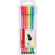 STABILO® viltstift Pen 68 in etui met 6 stuks, neon