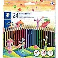 STAEDTLER Kleurenpotloden NORIS®, diverse kleuren, 24 stuks