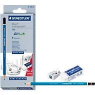 Staedtler Mars® Lumograph® 100 Set, Bleistifte, Spitzer und Radierer im Set