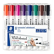 STAEDTLER Whiteboardmarker Lumocolor®, 8er Set, farbsortiert