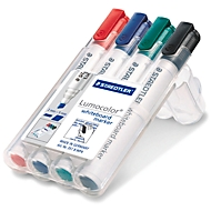 STAEDTLER Whiteboardmarker Lumocolor®, farbsortiert, Keilspitze: 2 - 5 mm, 4er Set
