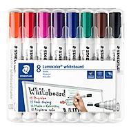 STAEDTLER whiteboardmarker Lumocolor®, set van 8, gesorteerd op kleur