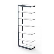 Stahlregal PROGRESS 2000, Regalfeld, ohne Rückwand, H 2600 x B 750 x T 300 mm, Rahmen silber