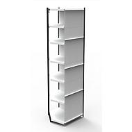 Stahlregal PROGRESS 2000, Regalfeld, Rückwand, H 2600 x B 750 x T 300 mm, Rahmen schwarz