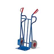 Stahlrohr-Sackkarre, Tragkraft 250 kg, Luft-Bereifung