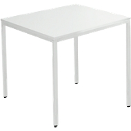Stahlrohr-Tisch, 1200 x 700 mm, lichtgrau/lichtgrau