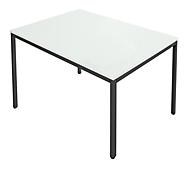 Stahlrohr-Tisch, 1200 x 800 mm, lichtgrau/schwarz