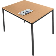 Stahlrohr-Tisch, 1400 x 700 mm, Buche-Dekor/schwarz